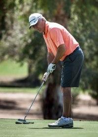 Bob Kennedy strokes the ball.