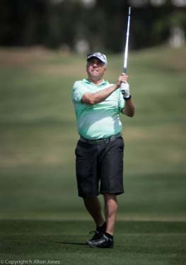 Dave Allen on the final hole.