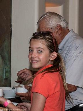 John Elick's granddaughter celebrates with Grampa.